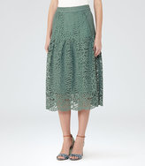 Reiss Eva Lace Midi Skirt