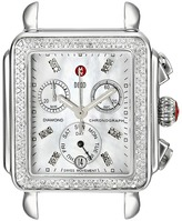 Michele Deco Diamond, Diamond Dial Silver/Steel Watch Head Analog Watches