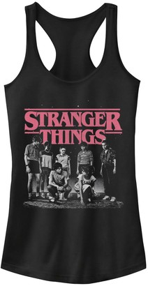Licensed Character Juniors' Stranger Things Faded Cast Poster Tank