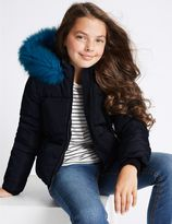 Marks and Spencer Hooded Faux Fur Coat (3-14 Years)