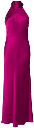 Galvan Halterneck Gown