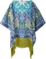 Etro paisley print fringed kaftan - women - Silk/Viscose - One Size