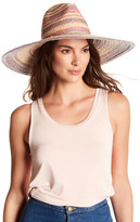 BCBGMAXAZRIA Striped Floppy Panama Hat