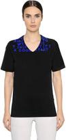 Maison Margiela Aids Flocked Cotton Jersey T-Shirt