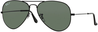 Ray-Ban Metal Polarized Aviator Sunglasses