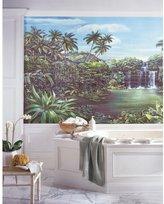 RoomMates RA0173M Tropical Lagoon Chair Rail Prepasted Mural 6 ft. x 10.5 ft.