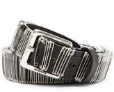 Diesel Betion Safety Pin Leather Belt