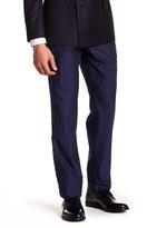 Bonobos Blue Woven Flat Front Cotton Trouser