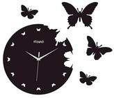 Creative Motion IND Creative Motions Butterfly Clock - Black