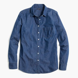 J.Crew Petite denim shirt in signature fit
