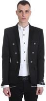 Balmain Blazer In Black Cotton