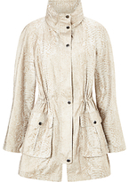 Four Seasons Embossed Parka, Taupe