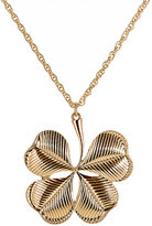 Kenneth Jay Lane WOMEN'S CLOVER PENDANT NECKLACE-GOLD