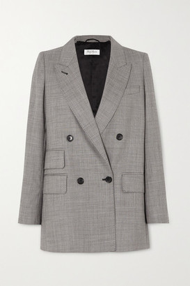 Max Mara Antiope Double-breasted Wool-blend Blazer - Black
