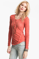 Free People Lace Trim Henley