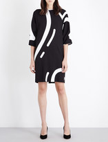 Max Mara Rete heart-print stretch-crepe dress
