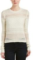 Derek Lam 10 Crosby Multi-knit Silk, Wool, & Cashmere-blend Pullover.