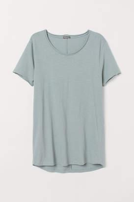 H&M Raw-edge T-shirt - Green