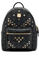 MCM Men's Mmk6sve19bk001 Black Pvc Backpack