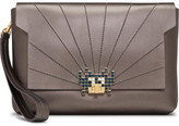 Anya Hindmarch BATHURST CLUTCH SML SPACE INVADRS METALLIC NAP
