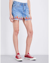 Ksubi Mini Moss mid-rise denim skirt