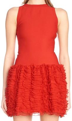 Alaia Ribbed Mini Dress