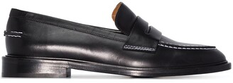 ATP ATELIER Stitch-Trimmed Leather Penny Loafers
