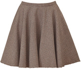 McQ Alexander McQueen Claret/Brown Houndstooth Swing Skirt