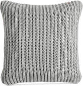 "Charter Club Damask Designs 20"" Square Sweater-Knit Decorative Pillow, Created for Macy's Bedding"