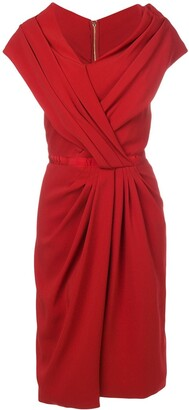 Vionnet Ruched Asymmetric Dress
