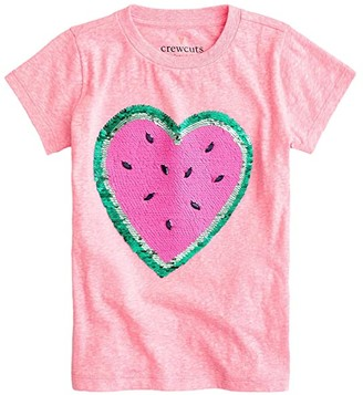 crewcuts by J.Crew Watermelon Heart T-Shirt (Little Kids/Big Kids) (Watermelon Heart) Girl's Clothing