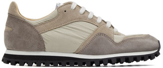 Spalwart Beige and Grey Marathon Trail Low Sneakers