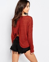 Only Open Back Detail Sweater