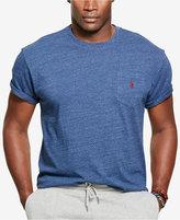 Polo Ralph Lauren Men's Big & Tall Jersey Pocket Crew Neck