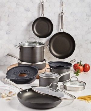 Calphalon Classic 14-Pc. Non-Stick No-Boil-Over Hard Anodized Cookware Set