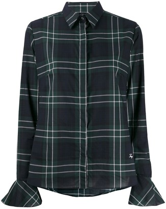Fay Plaid-Print Slim-Fit Shirt