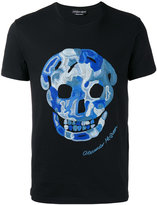 Alexander McQueen embroidered skull T-shirt - men - Cotton/Viscose - M