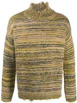 Covert distressed wool sweater