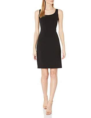 Tahari ASL Women's Pebble Crepe Sheath Dress