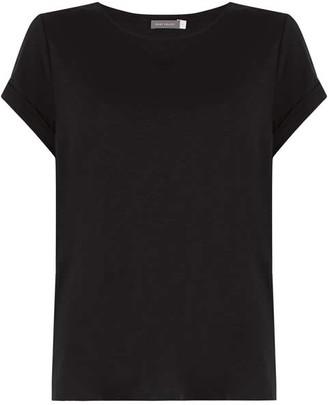 Mint Velvet Black Cotton Star T-Shirt