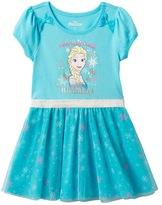 Disney Disney's Frozen Elsa Girls 4-6x Snowflake Mesh Skirt Dress