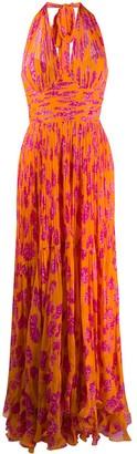 Maria Lucia Hohan Paola pleated long dress