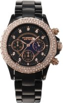 K & Bros Women's 9553-1 Icetime Fashion Chrono Stones Watch
