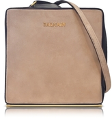Balmain Pablito Nude Velvet Shoulder Bag