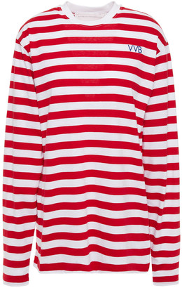 Victoria Victoria Beckham Striped Cotton-jersey Top