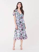 Diane von Furstenberg Palmer Silk-Chiffon Midi Dress
