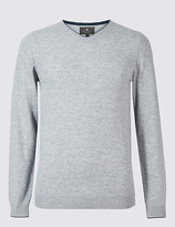 M&S Collection Merino Wool Rich V-Neck Jumper