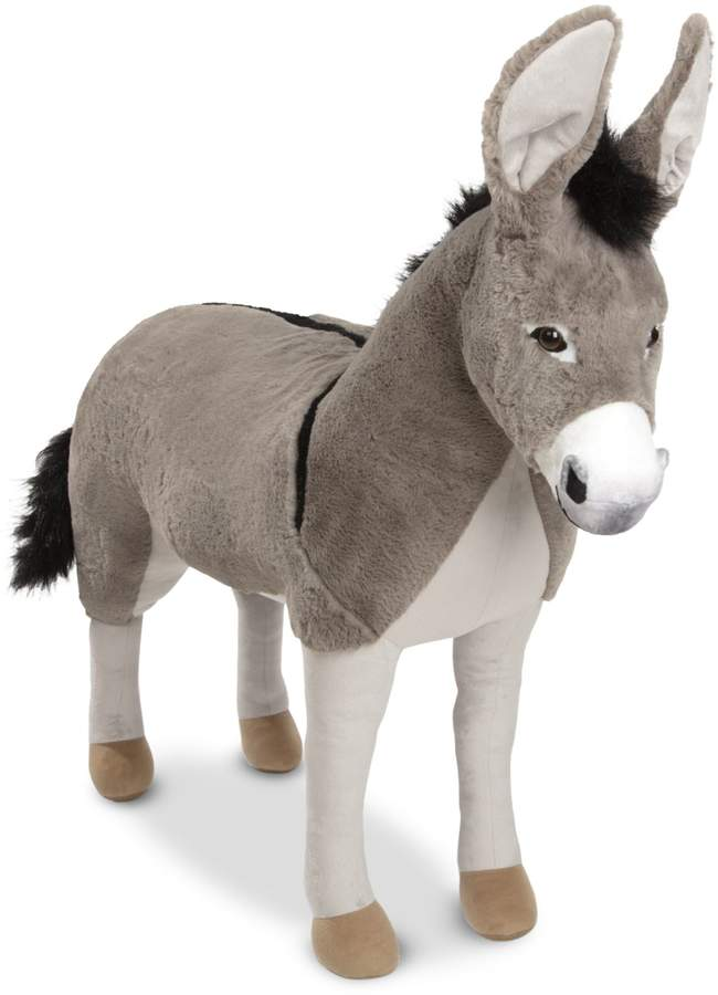 Melissa & Doug Lifelike Donkey Plush Toy