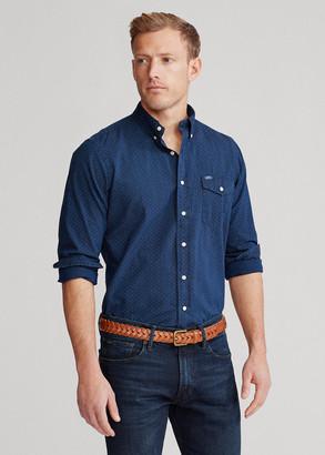 Ralph Lauren Indigo Dot-Print Shirt