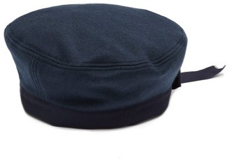 Gucci Felted Wool-blend Sailor Hat - Navy